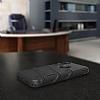 Eiroo Zag Armor iPhone X Standlı Ultra Koruma Siyah Kılıf - Resim 4