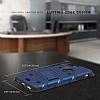 Eiroo Zag Armor Samsung Galaxy A7 2017 Standlı Ultra Koruma Silver Kılıf - Resim 2