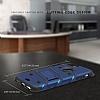 Eiroo Zag Armor Samsung Galaxy C9 Pro Standlı Ultra Koruma Silver Kılıf - Resim 2