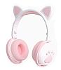EK1 Kedi Kulak Led Işıklı Kablosuz Beyaz Kulaklık