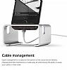 Elago M3 Universal Alüminyum ve Ceviz Ağacı Silver Telefon Standı - Resim 5