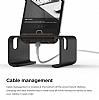 Elago M3 Universal Alüminyum ve Ceviz Ağacı Siyah Telefon Standı - Resim 1