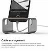 Elago M3 Universal Alüminyum ve Ceviz Ağacı Dark Silver Telefon Standı - Resim 3