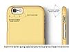 Elago S6 Slim Fit 2 iPhone 6 / 6S Sarı Rubber Kılıf - Resim 7