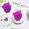 Emoji 2600 mAh Powerbank Mor Yedek Batarya - Resim 4