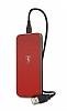 Ferrari Lisanslı Kırmızı Kablosuz Şarj Cihazı - Resim 1