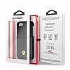 Ferrari iPhone 6 / 6S / 7 / 8 Gerçek Deri Karbon Siyah Rubber Kılıf - Resim 5