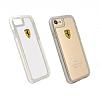 Ferrari iPhone 7 / 8 Ultra Koruma Silikon Kenarlı Şeffaf Beyaz Kılıf - Resim 4