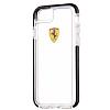 Ferrari iPhone 7 / 8 Ultra Koruma Silikon Kenarlı Şeffaf Siyah Kılıf - Resim 2