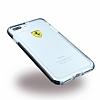 Ferrari iPhone 7 Plus / 8 Plus Ultra Koruma Silikon Kenarlı Şeffaf Beyaz Kılıf - Resim 1