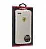 Ferrari iPhone 7 Plus / 8 Plus Ultra Koruma Silikon Kenarlı Şeffaf Beyaz Kılıf - Resim 4