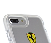 Ferrari iPhone 7 Plus / 8 Plus Ultra Koruma Silikon Kenarlı Şeffaf Beyaz Kılıf - Resim 2