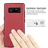 G-Case Duke Series Samsung Galaxy Note 8 Metal Tuşlu Kırmızı Deri Kılıf - Resim 6