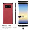 G-Case Duke Series Samsung Galaxy Note 8 Metal Tuşlu Kırmızı Deri Kılıf - Resim 2