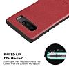 G-Case Duke Series Samsung Galaxy Note 8 Metal Tuşlu Kırmızı Deri Kılıf - Resim 7