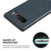 G-Case Duke Series Samsung Galaxy Note 8 Metal Tuşlu Lacivert Deri Kılıf - Resim 5