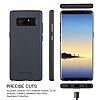 G-Case Duke Series Samsung Galaxy Note 8 Metal Tuşlu Lacivert Deri Kılıf - Resim 7