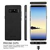 G-Case Duke Series Samsung Galaxy Note 8 Metal Tuşlu Siyah Deri Kılıf - Resim 3