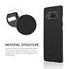 G-Case Duke Series Samsung Galaxy Note 8 Metal Tuşlu Siyah Deri Kılıf - Resim 5
