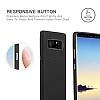 G-Case Duke Series Samsung Galaxy Note 8 Metal Tuşlu Siyah Deri Kılıf - Resim 4