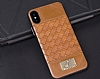 G-Case Gentleman Series iPhone X Deri Kahverengi Rubber Kılıf - Resim 3