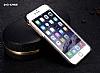 G-Case iPhone 6 / 6S Rose Gold Kenarlı Standlı Deri Siyah Rubber Kılıf - Resim 2