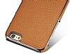 G-Case iPhone 6 / 6S Rose Gold Kenarlı Standlı Deri Siyah Rubber Kılıf - Resim 1