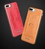 G-Case Majesty Series iPhone X Deri Kırmızı Rubber Kılıf - Resim 4