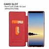 G-Case Samsung Galaxy Note 8 Cüzdanlı İnce Yan Kapaklı Kırmızı Deri Kılıf - Resim 7