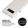 G-Case Samsung Galaxy Note 8 Cüzdanlı İnce Yan Kapaklı Beyaz Deri Kılıf - Resim 2