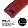 G-Case Samsung Galaxy Note 8 Cüzdanlı İnce Yan Kapaklı Kırmızı Deri Kılıf - Resim 4
