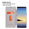 G-Case Samsung Galaxy Note 8 Cüzdanlı İnce Yan Kapaklı Beyaz Deri Kılıf - Resim 5