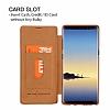 G-Case Samsung Galaxy Note 8 Cüzdanlı İnce Yan Kapaklı Kahverengi Deri Kılıf - Resim 5