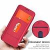 G-Case Samsung Galaxy S8 Cüzdanlı İnce Yan Kapaklı Kırmızı Deri Kılıf - Resim 4