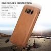 G-Case Samsung Galaxy S8 Cüzdanlı İnce Yan Kapaklı Kahverengi Deri Kılıf - Resim 4