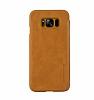 G-Case Samsung Galaxy S8 Cüzdanlı İnce Yan Kapaklı Kahverengi Deri Kılıf - Resim 2