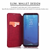 G-Case Samsung Galaxy S8 Plus Cüzdanlı Kapaklı Kırmızı Kılıf - Resim 4