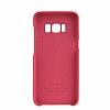 G-Case Samsung Galaxy S8 Deri Görünümlü Kırmızı Rubber Kılıf - Resim 1