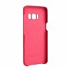 G-Case Samsung Galaxy S8 Deri Görünümlü Kırmızı Rubber Kılıf - Resim 2