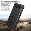 G-Case Samsung Galaxy S8 Plus Cüzdanlı İnce Yan Kapaklı Siyah Deri Kılıf - Resim 5