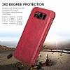 G-Case Samsung Galaxy S8 Plus Cüzdanlı İnce Yan Kapaklı Kırmızı Deri Kılıf - Resim 4