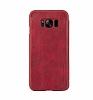 G-Case Samsung Galaxy S8 Plus Cüzdanlı İnce Yan Kapaklı Kırmızı Deri Kılıf - Resim 2