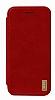 XO Samsung Galaxy S8 Plus Cüzdanlı İnce Yan Kapaklı Kırmızı Deri Kılıf - Resim 4