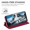 G-Case Samsung Galaxy S8 Cüzdanlı Kapaklı Kırmızı Kılıf - Resim 3
