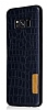 G-Case Samsung Galaxy S8 Plus Deri Desenli Siyah Rubber Kılıf - Resim 4