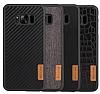 G-Case Samsung Galaxy S8 Plus Deri Desenli Siyah Rubber Kılıf - Resim 3