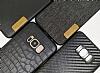 G-Case Samsung Galaxy S8 Plus Deri Desenli Siyah Rubber Kılıf - Resim 1