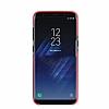 G-Case Samsung Galaxy S8 Plus Deri Görünümlü Kırmızı Rubber Kılıf - Resim 2