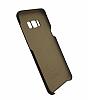 G-Case Samsung Galaxy S8 Plus Deri Görünümlü Kahverengi Rubber Kılıf - Resim 2