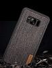 G-Case Samsung Galaxy S8 Plus Kumaş Görünümlü Rubber Kılıf - Resim 2